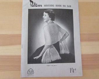 Vintage (1940s) knitting patterns, Patons Knitting Book N0 346
