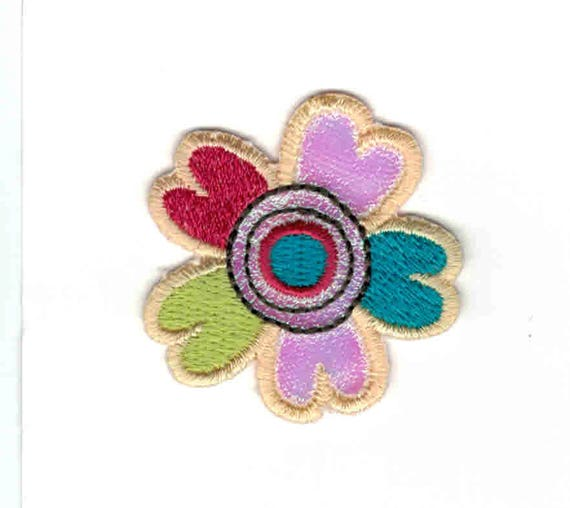 "Patch fusible trendy ""flower"" pattern"
