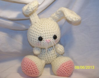 Adorable little crochet bunny ANY colors you want and you can pick if the ears are up or down Great for Easter