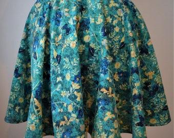 BecksyMoo Flirty Naturesque Circle Skirt Size 12