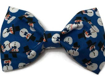 Smowman bow tie, winter bow tie, Christmas bow tie, hanukah bow tie, holiday bow tie, festive bow tie, for boys, clip on bow tie