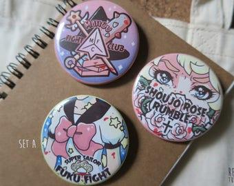 mahou shoujo fight club buttons