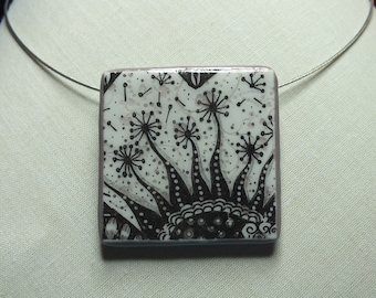 Autumn wind necklace on imaginary flowers