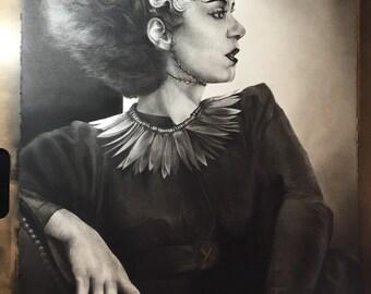 Her Still-Beating Heart (Limited Edition) Bride of Frankenstein Print