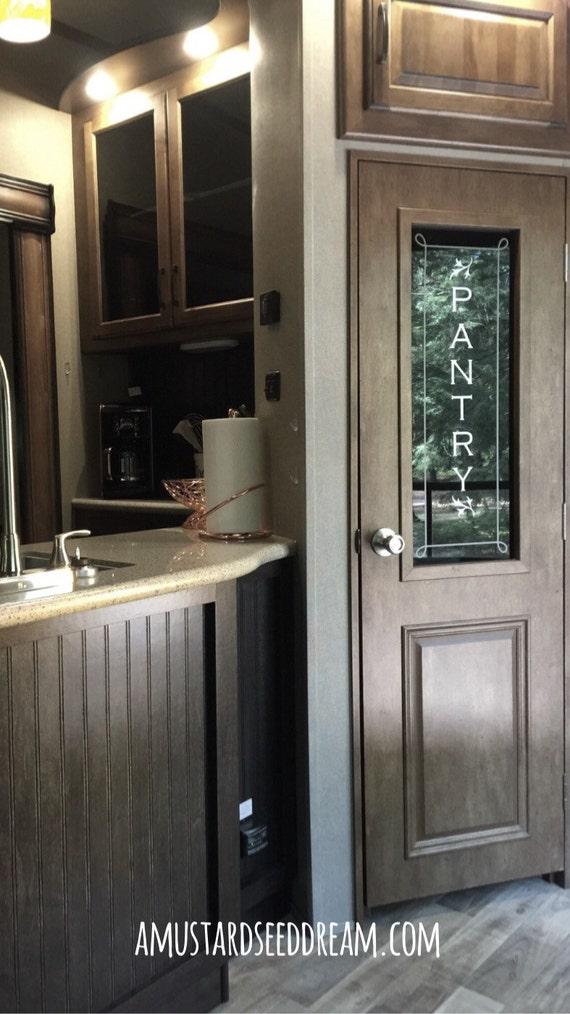 Vertical Pantry Door Sticker Decal With Embellishments Vinyl
