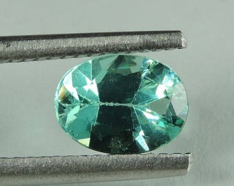 1.35 cts green Apatite faceted oval lot Madagascar