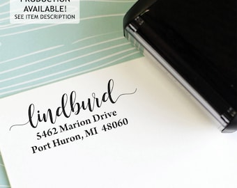 Address Stamp - Self Inking Return Address Stamp - rubber stamp - Custom and Personalized Stamp, Housewarming gift - lindburd