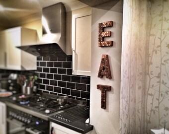 eat kitchen decor etsy rh etsy com red eat letters for kitchen red eat letters for kitchen