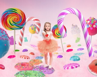 Candy Land Digital Background / Backdrop