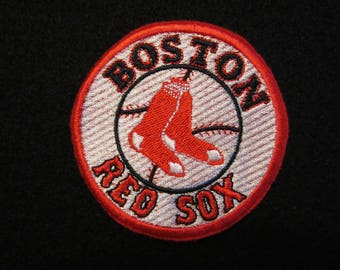 Embroidered Boston Red Sox Iron On Patch, Boston Red Sox, Red Sox, Boston, Iron On Patch, Iron On Applique