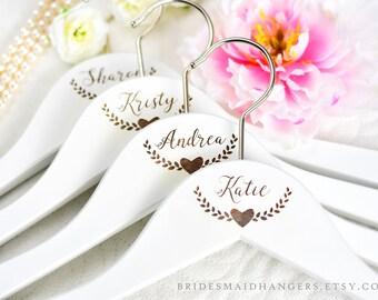 White Wedding Hangers, Wedding Dress Hangers, Personalized Hangers, Dress Hanger, Wedding Hangers, Bridal Party Hangers, Bridal Hanger H13