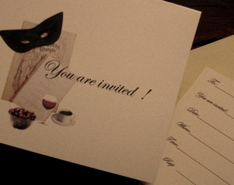 Invitation Cards Wine/  Dinner Parties   / PDF Instant Download Print