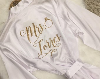 Bridesmaid Robes, Personalized Bridesmaid Robes, Bride Robe, Getting Ready Robe, Bridal Shower, Wedding Robe Gift, Mother of the Bride