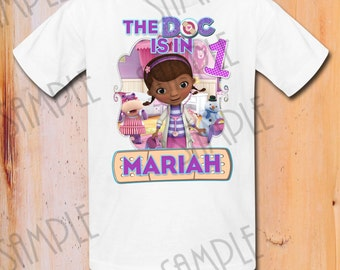 Disney Doc Mcstuffins Iron On Transfer Printable Birthday Girl The Doc Is in Digital Download Personalized DIY Birthday Mcstuffins shirt