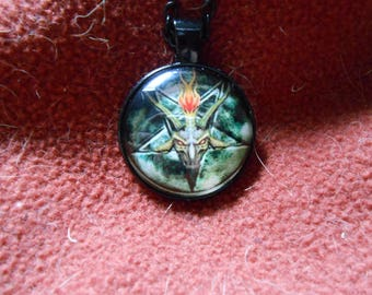 Baphomet inverted pentagram necklace
