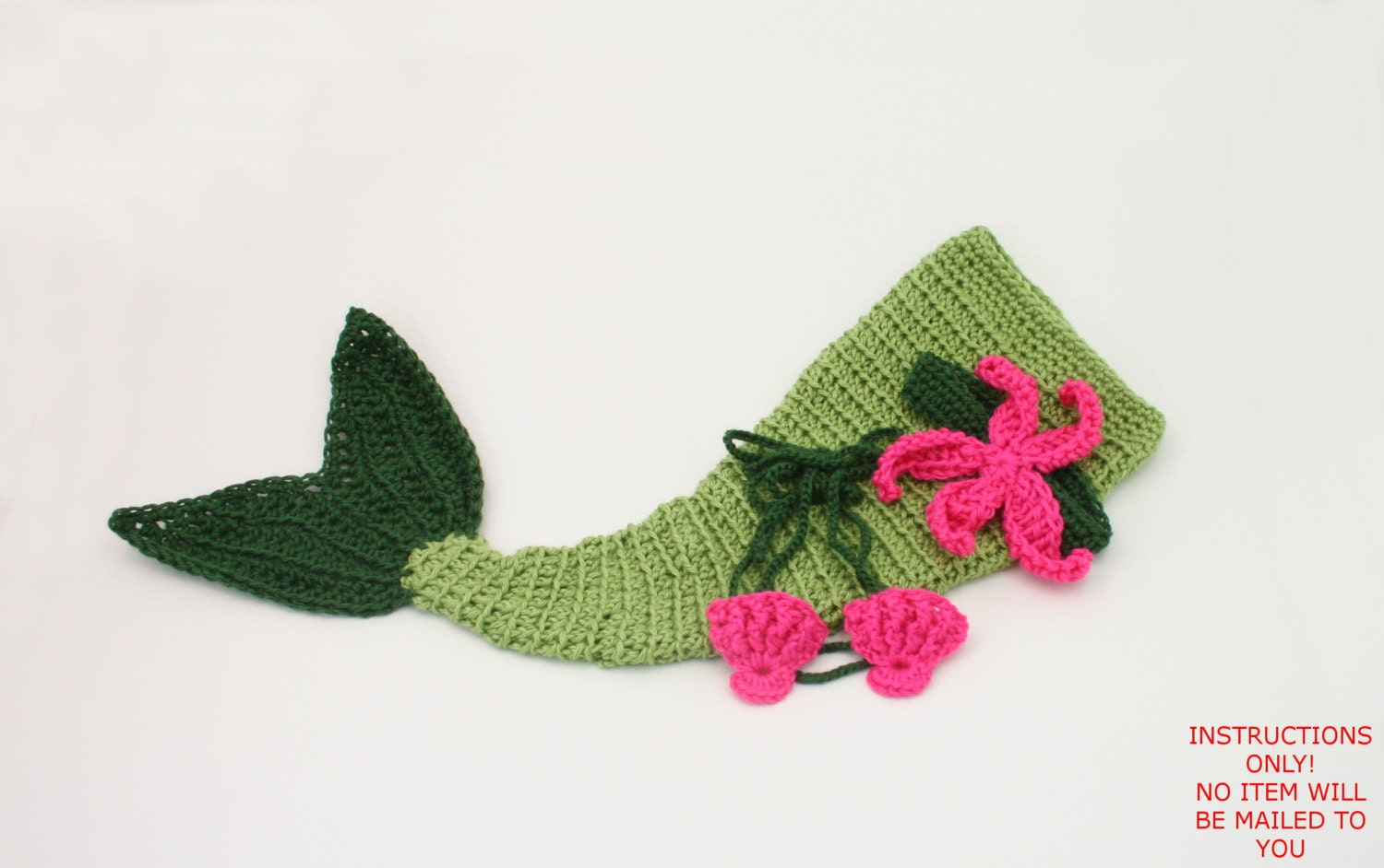Old Fashioned Crochet Baby Mermaid Costume Pattern Mold - Easy Scarf ...