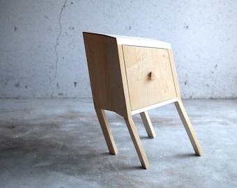Leaning Nightstand Wood Furniture Table