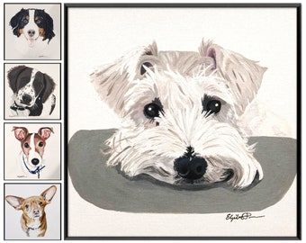 CUSTOM Personalized Canvas Pet Paintings