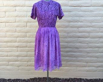 Vintage L'Aiglon Rockabilly Lace Dress Sz S VLV Pinup Bombshell