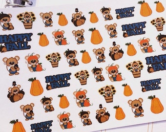 Happy Fall,  Planner Stickers,  Autumn Stickers, Fits Erin Condren Planner, Fall Stickers, Stickers