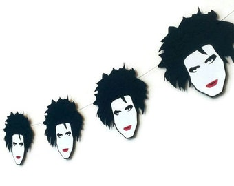 The Cure, Robert Smith Garland,  Robert Smith Head Banner