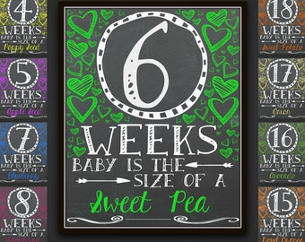 Chalkboard Weekly Pregnancy Signs, Pregnancy Signs, Weekly Pregnancy Chalkboard, Weekly Pregnancy, Pregnancy Photo Prop, Pregnancy Gift, Art