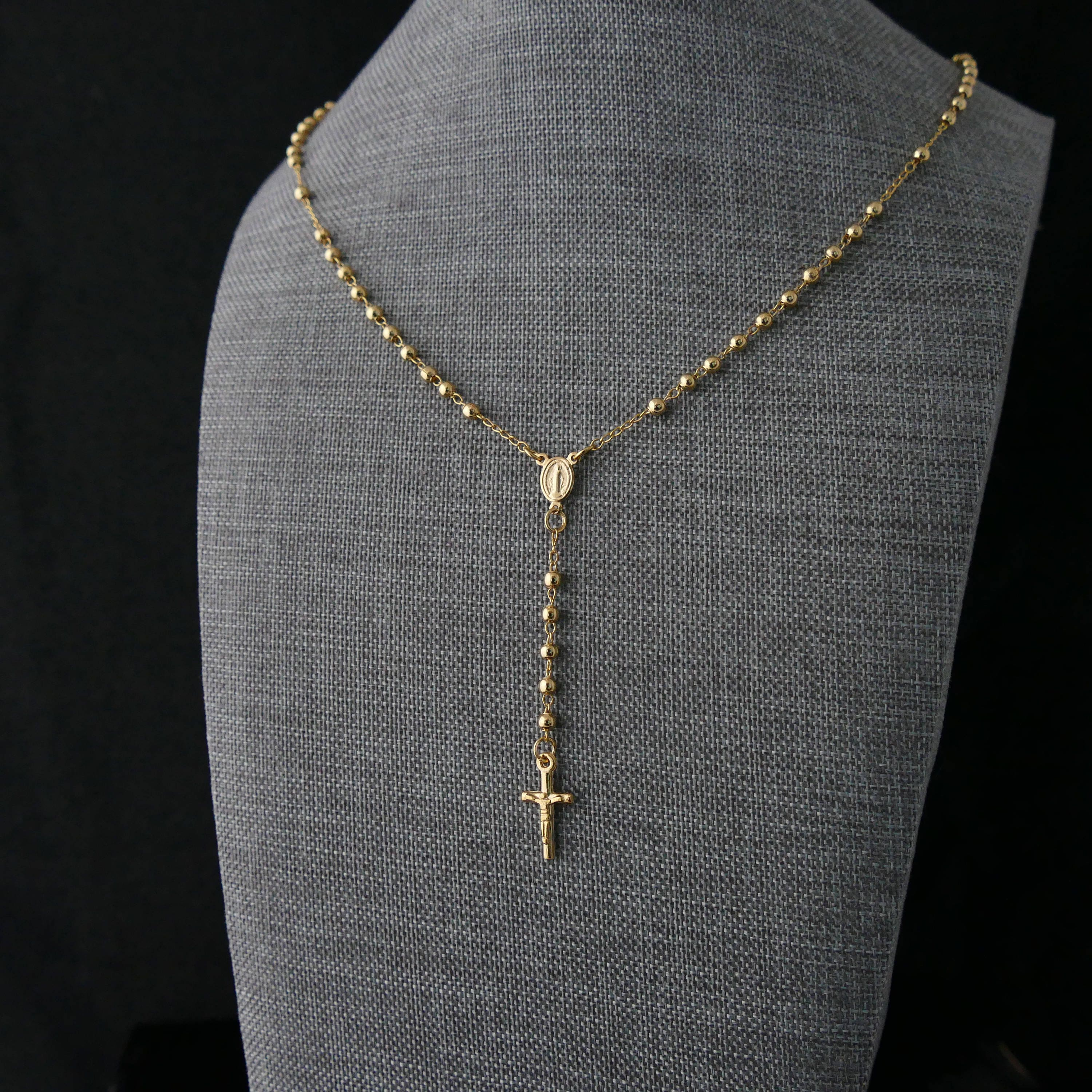 Rosary Necklace Gold Rosary Necklace Rosary Gold Rosary Gold