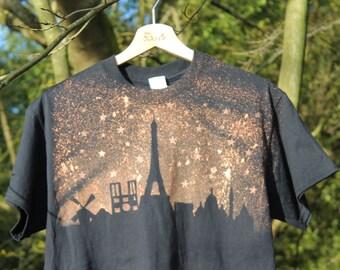 Grunge Paris Skyine T-shirt Tee Adult Unisex