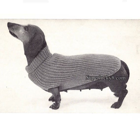 Vintage dog sweater knitting pattern in PDF pattern in PDF instant ...