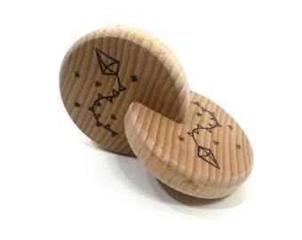 Rattle double disc Montessori, kite, toy baby teether disc