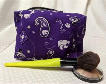 Small Zippered Organizer Bag-K-State Purple