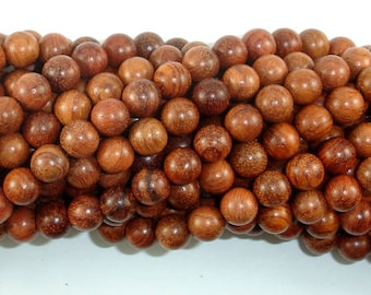 Rosewood Beads, 8mm(8.3mm) Round Beads, 34 Inch, Full strand, Approx 108 Beads, Mala Beads (011737002)