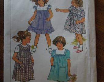 Simplicity 6814, sizes 2-4, girls dress, sewing pattern, craft suppplies