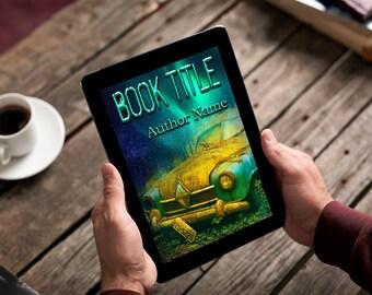 "Premade Ebook Cover ""Old Car"" Fiction Literary Political Crime Thriller Suspense"