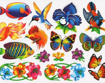 99 Nature Window Clings Decals