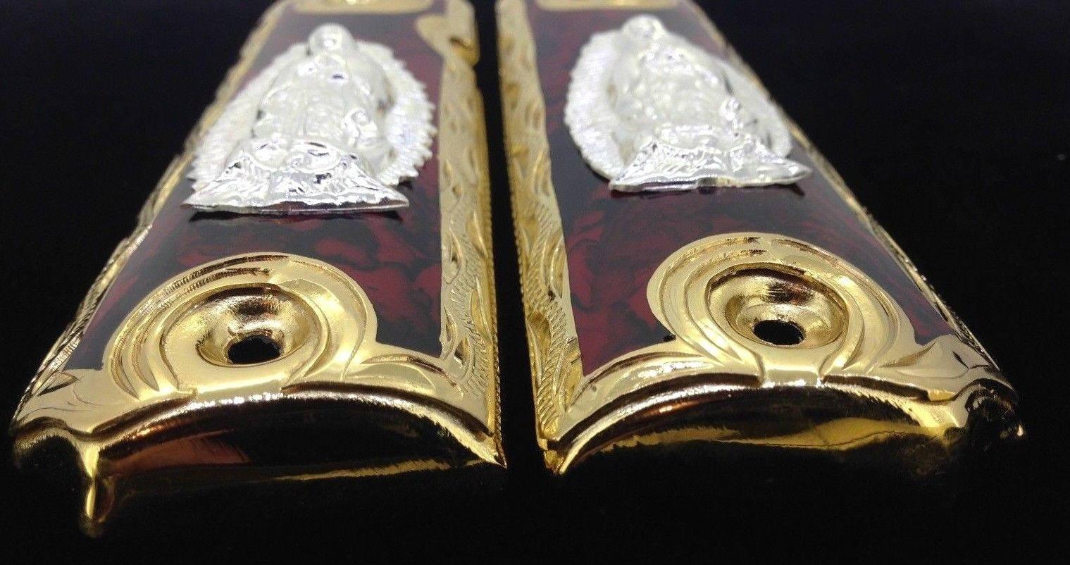 1911 pistola apretones • Guadalupe Virgen • Virgen Guadalupe • potro ...