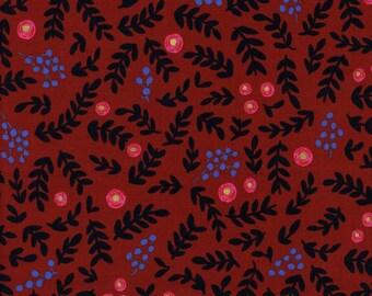 Cotton + Steel Wonderland - rose garden - crimson metallic - 50cm