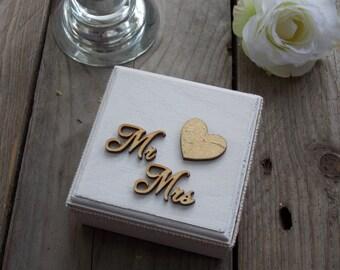 Ring bearer box 'Golden Heart' - wedding, ring pillow, ring box, wedding decoration