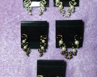 Earclimbers de perlas de Swarovski