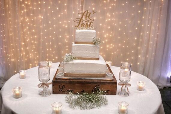 Gold Glitter Cake Topper, At Last Cake Topper, Wedding Cake Topper, Engagement Cake Topper, Bridal Shower Cake Topper, Rose Gold Cake Topper