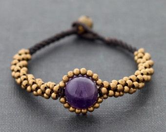 Amethyst Saturn Bracelet