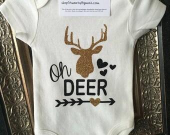 Oh Deer, Little Girls Bodysuit