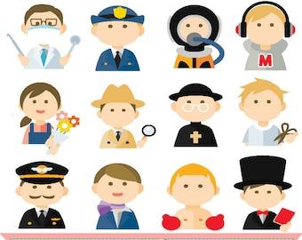 job clip art etsy rh etsy com job clipart black and white job clipart black and white