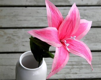 Paper flowers-pink lily