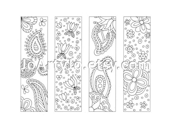 coloring pages of bookmarks - photo#16
