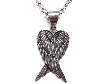 Angel Wings Sterling Silver Pendant