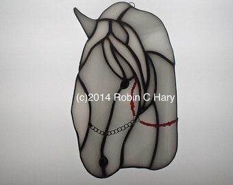 Arabian Horse Suncatcher in Stained Glass
