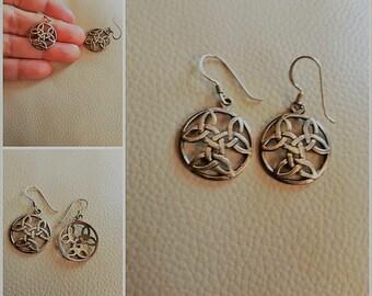Silver Celtic Design Earrings