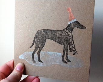 Charity Greyhound Christmas Card - pack of 4