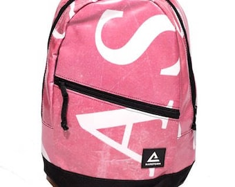 Backpack made from billboard vinyl